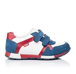 Детские кроссовки Woopy Orthopedic синие, белые, красные для мальчиков натуральная кожа и нубук размер 18-18 (3317) Фото 4