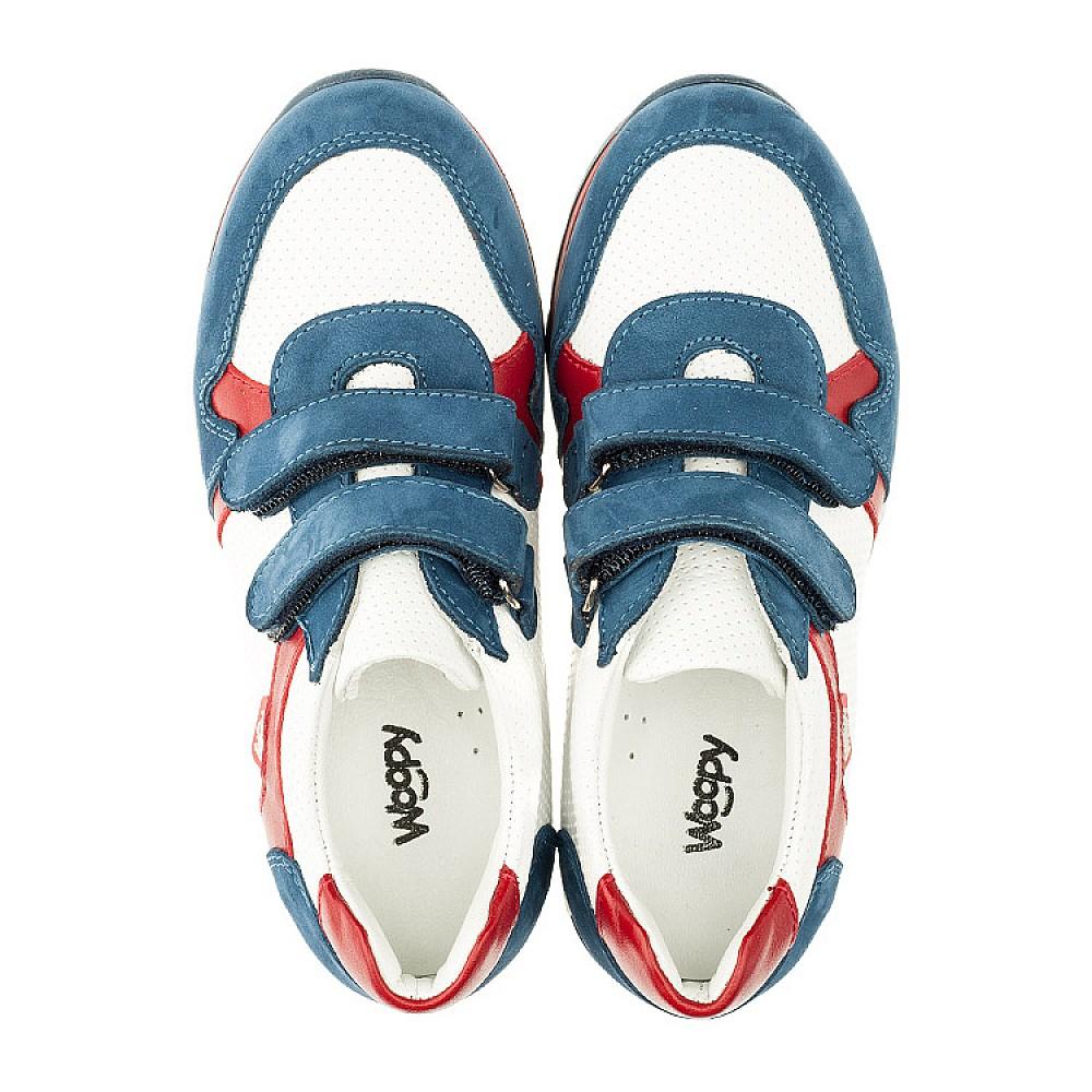Детские кроссовки Woopy Orthopedic синие, белые, красные для мальчиков натуральная кожа и нубук размер 18-30 (3317) Фото 5