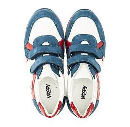 Детские кроссовки Woopy Orthopedic синие, белые, красные для мальчиков натуральная кожа и нубук размер 18-18 (3317) Фото 5