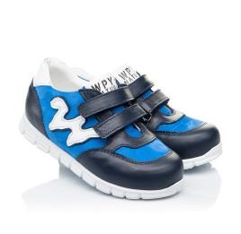 Детские кроссовки Woopy Orthopedic синие для мальчиков натуральный нубук размер 18-20 (3318) Фото 1