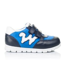 Детские кроссовки Woopy Orthopedic синие для мальчиков натуральный нубук размер 18-20 (3318) Фото 4