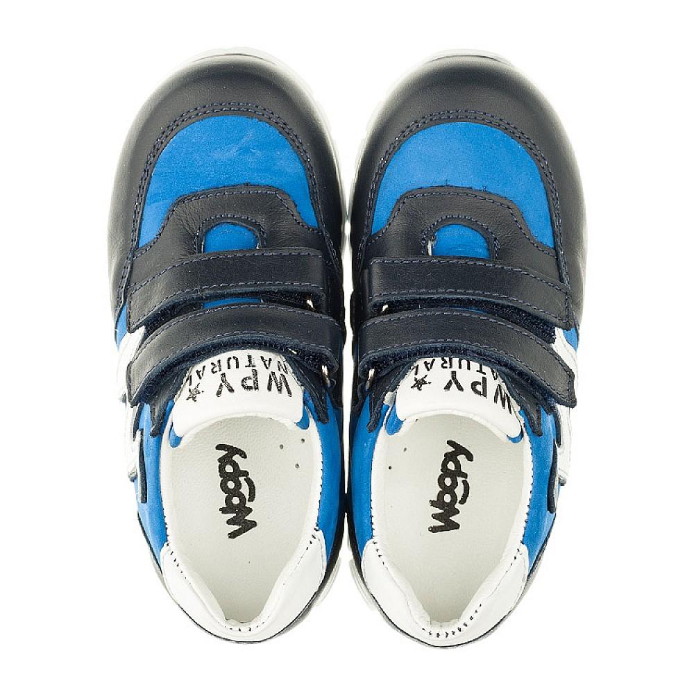 Детские кроссовки Woopy Orthopedic синие для мальчиков натуральный нубук размер 18-25 (3318) Фото 5