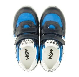 Детские кроссовки Woopy Orthopedic синие для мальчиков натуральный нубук размер 18-20 (3318) Фото 5