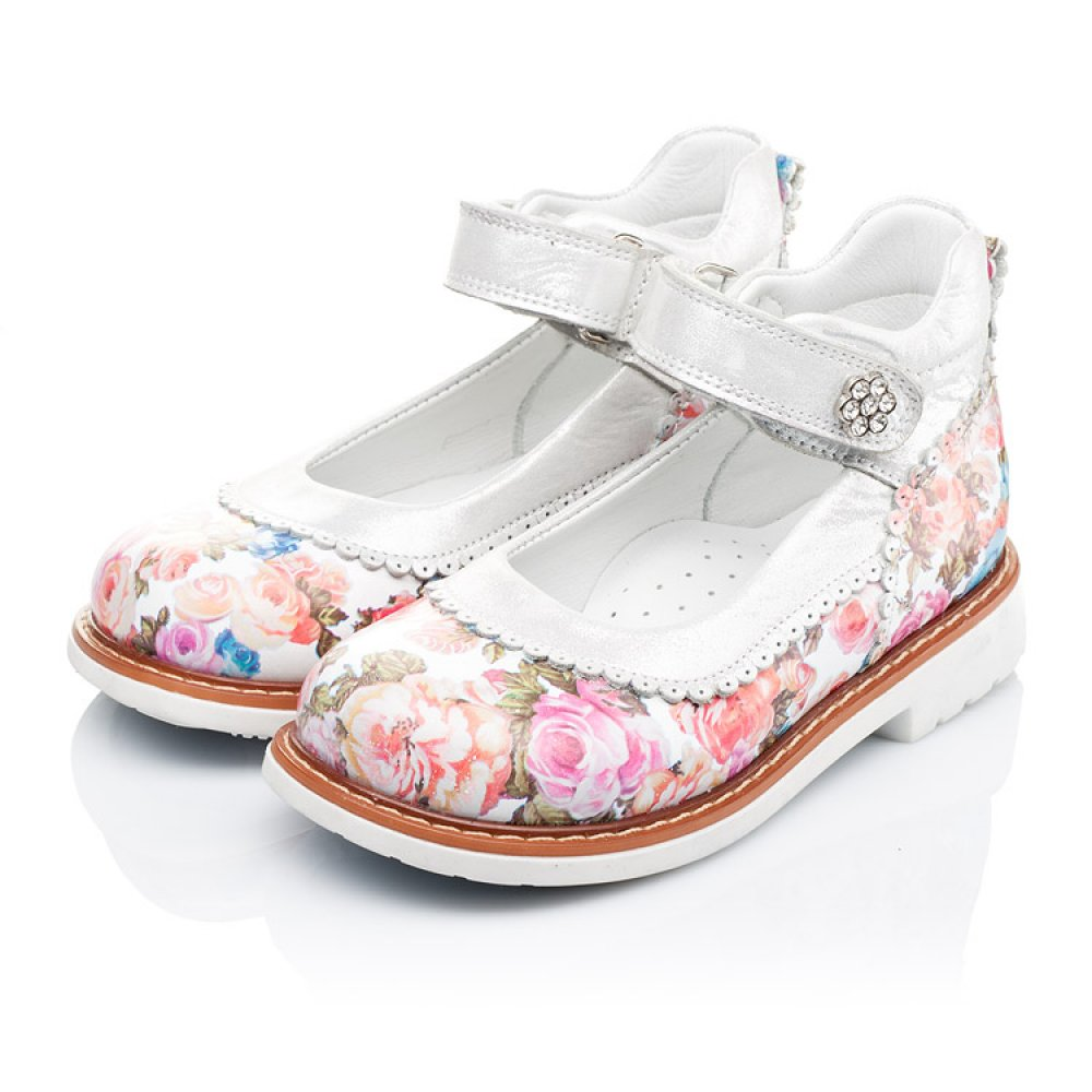 Детские туфли ортопедические Woopy Orthopedic разноцветные для девочек натуральная кожа размер 26-33 (3323) Фото 3