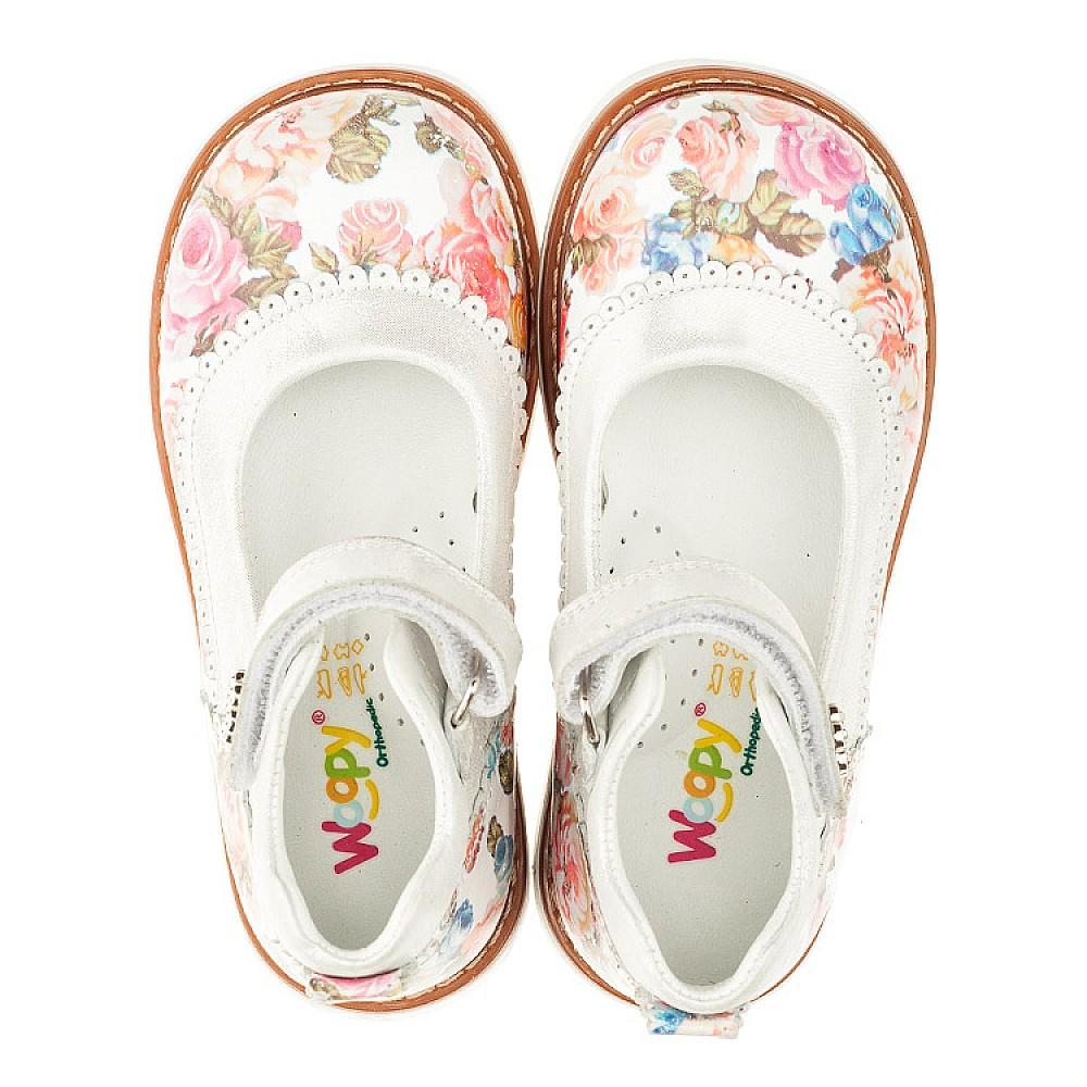 Детские туфли ортопедические Woopy Orthopedic разноцветные для девочек натуральная кожа размер 26-33 (3323) Фото 5