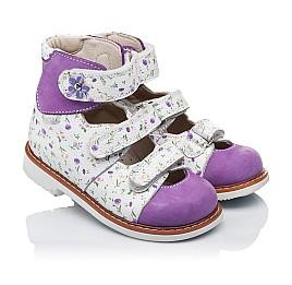 Детские ортопедические туфли (с высоким берцем) Woopy Orthopedic сиреневые, разноцветные для девочек натуральная кожа и нубук размер 19-27 (3328) Фото 1