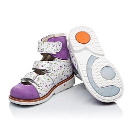 Детские ортопедические туфли (с высоким берцем) Woopy Orthopedic сиреневые, разноцветные для девочек натуральная кожа и нубук размер 19-27 (3328) Фото 2