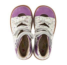 Детские ортопедические туфли (с высоким берцем) Woopy Orthopedic сиреневые, разноцветные для девочек натуральная кожа и нубук размер 19-27 (3328) Фото 5