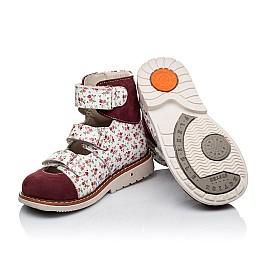 Детские ортопедические туфли (с высоким берцем) Woopy Orthopedic бордовые для девочек натуральная лаковая кожа и нубук размер 26-28 (3330) Фото 2