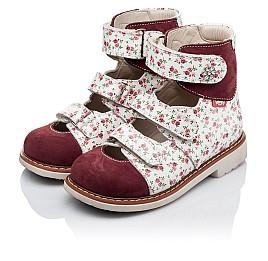 Детские ортопедические туфли (с высоким берцем) Woopy Orthopedic бордовые для девочек натуральная лаковая кожа и нубук размер 26-28 (3330) Фото 3