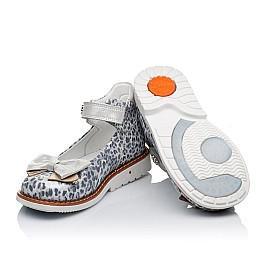 Детские туфлі ортопедичні Woopy Orthopedic серебряные для девочек натуральная кожа размер - (3331) Фото 2