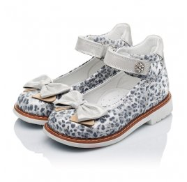 Детские туфлі ортопедичні Woopy Orthopedic серебряные для девочек натуральная кожа размер - (3331) Фото 3