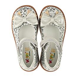 Детские туфлі ортопедичні Woopy Orthopedic серебряные для девочек натуральная кожа размер - (3331) Фото 5