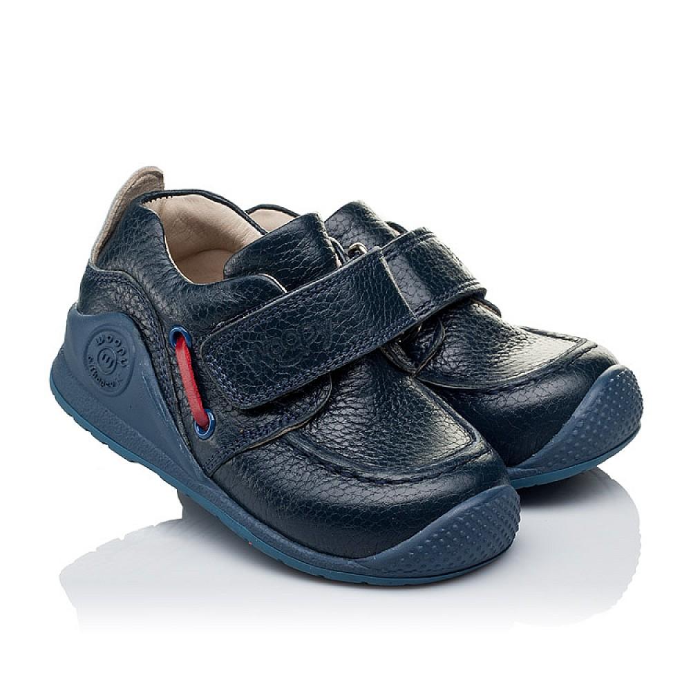 Детские мокасины Woopy Orthopedic темно-синие для мальчиков натуральная кожа размер 18-21 (3332) Фото 1