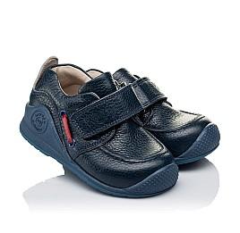 Детские мокасины Woopy Orthopedic темно-синие для мальчиков натуральная кожа размер 18-20 (3332) Фото 1