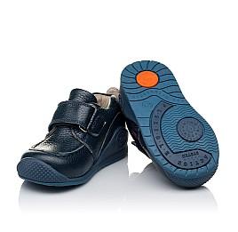 Детские мокасины Woopy Orthopedic темно-синие для мальчиков натуральная кожа размер 18-20 (3332) Фото 2