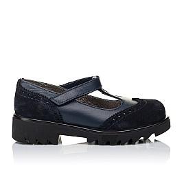 Детские туфли Woopy Orthopedic темно-синие для девочек натуральная кожа и замша размер 31-40 (3336) Фото 4