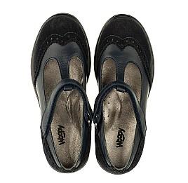 Детские туфли Woopy Orthopedic темно-синие для девочек натуральная кожа и замша размер 31-40 (3336) Фото 5