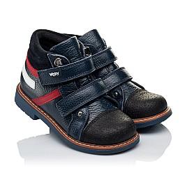 Детские демисезонные ботинки Woopy Orthopedic темно-синие для мальчиков натуральная кожа размер 18-18 (3339) Фото 1