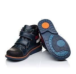 Детские демисезонные ботинки Woopy Orthopedic темно-синие для мальчиков натуральная кожа размер 18-18 (3339) Фото 2