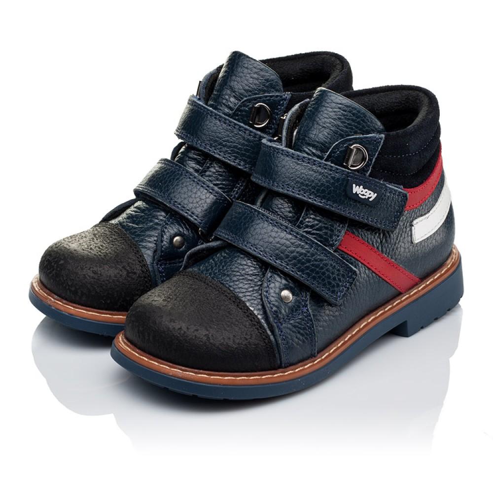 Детские демисезонные ботинки Woopy Orthopedic темно-синие для мальчиков натуральная кожа размер 18-30 (3339) Фото 3