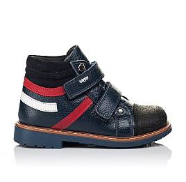 Детские демисезонные ботинки Woopy Orthopedic темно-синие для мальчиков натуральная кожа размер 18-18 (3339) Фото 4