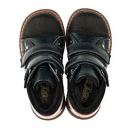 Детские демисезонные ботинки Woopy Orthopedic темно-синие для мальчиков натуральная кожа размер 18-18 (3339) Фото 5