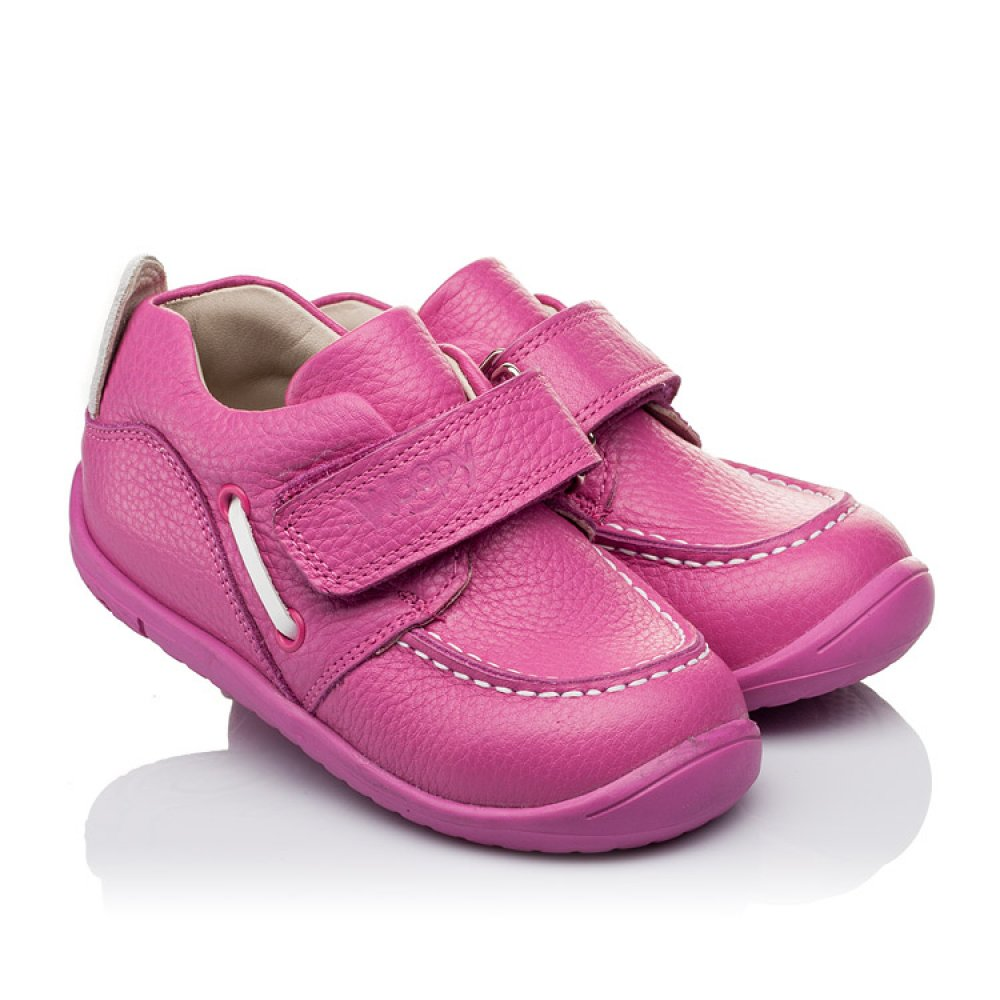 Детские мокасины Woopy Orthopedic розовые для девочек натуральная кожа размер 18-25 (3341) Фото 1