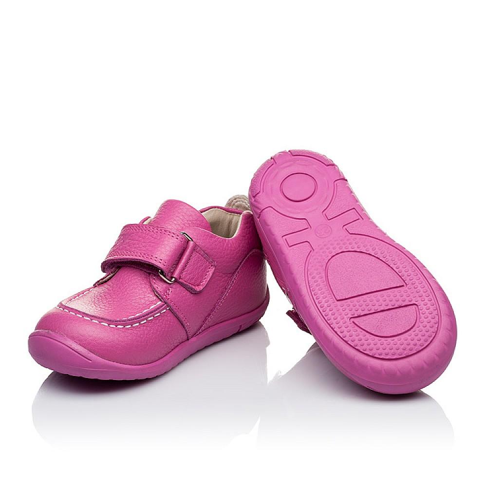 Детские мокасины Woopy Orthopedic розовые для девочек натуральная кожа размер 18-25 (3341) Фото 2