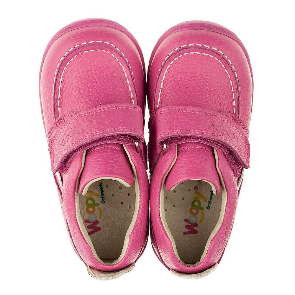 Детские мокасины Woopy Orthopedic розовые для девочек натуральная кожа размер 18-25 (3341) Фото 5