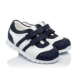 Детские кроссовки Woopy Orthopedic белые, темно-синие для девочек натуральная кожа и нубук размер 20-20 (3344) Фото 1