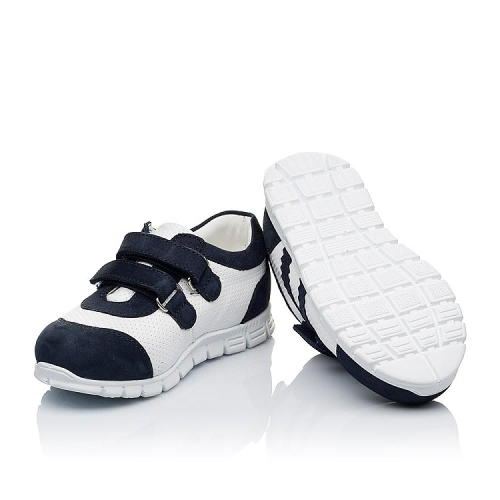 Детские кроссовки Woopy Orthopedic белые, темно-синие для девочек натуральная кожа и нубук размер 18-25 (3344) Фото 2