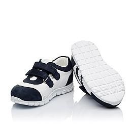 Детские кроссовки Woopy Orthopedic белые, темно-синие для девочек натуральная кожа и нубук размер 20-20 (3344) Фото 2