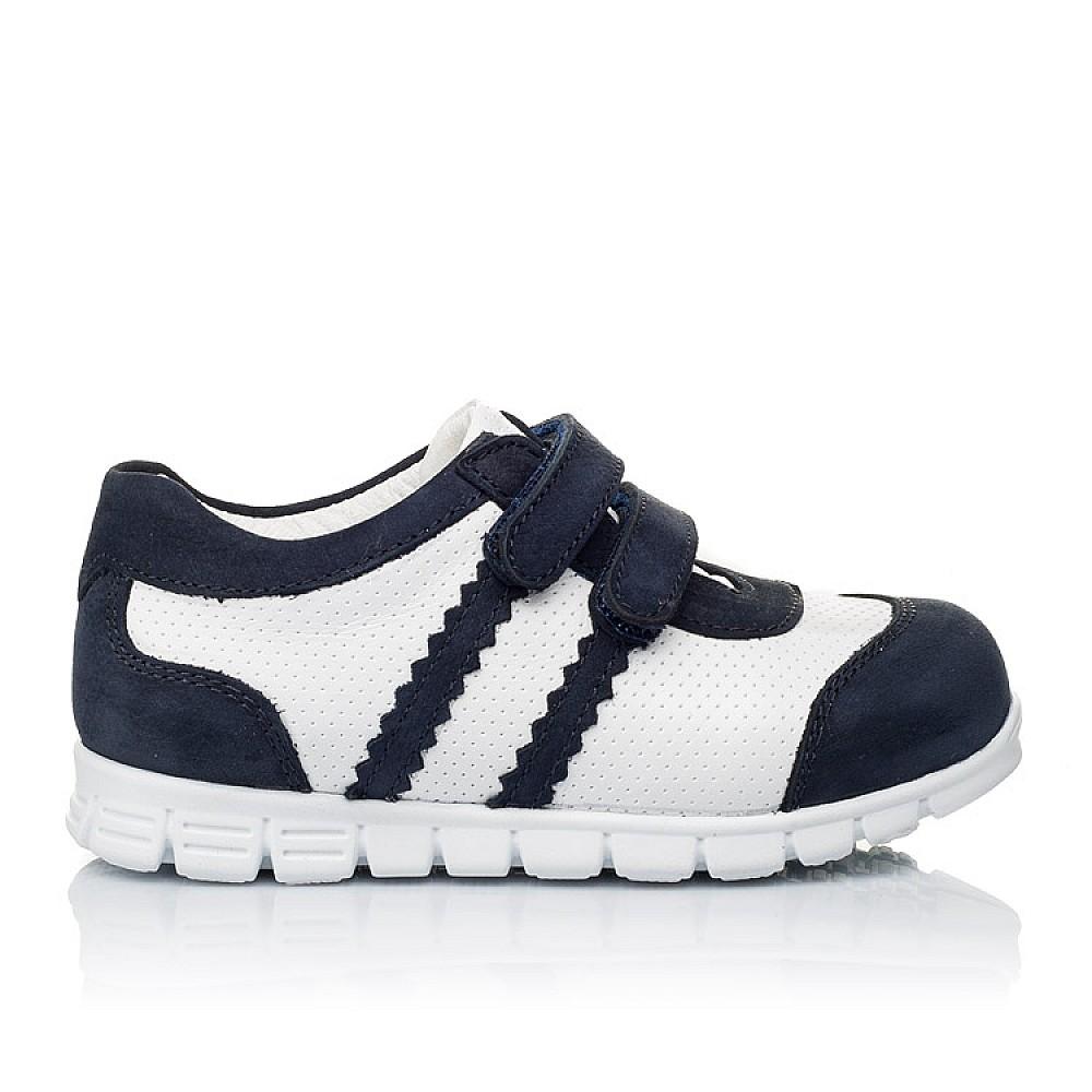 Детские кроссовки Woopy Orthopedic белые, темно-синие для девочек натуральная кожа и нубук размер 18-25 (3344) Фото 4