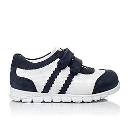 Детские кроссовки Woopy Orthopedic белые, темно-синие для девочек натуральная кожа и нубук размер 20-20 (3344) Фото 4