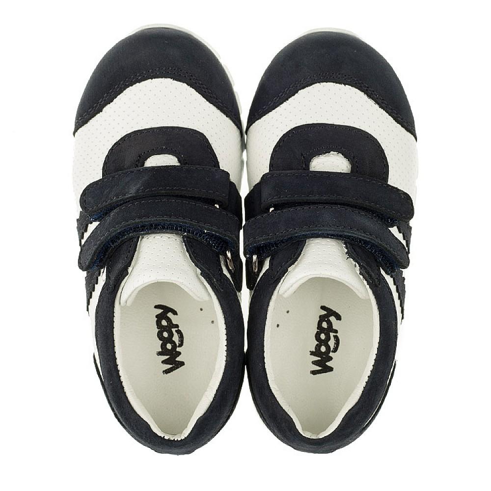 Детские кроссовки Woopy Orthopedic белые, темно-синие для девочек натуральная кожа и нубук размер 18-25 (3344) Фото 5