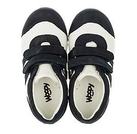 Детские кроссовки Woopy Orthopedic белые, темно-синие для девочек натуральная кожа и нубук размер 20-20 (3344) Фото 5