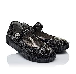 Детские туфли Woopy Orthopedic черные для девочек натуральный нубук размер 28-28 (3348) Фото 1