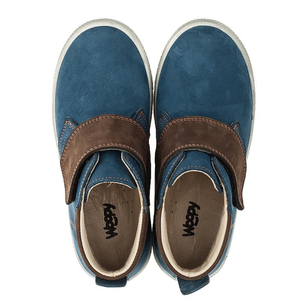 Детские демисезонные ботинки Woopy Orthopedic синие для мальчиков натуральный нубук размер 21-30 (3360) Фото 5