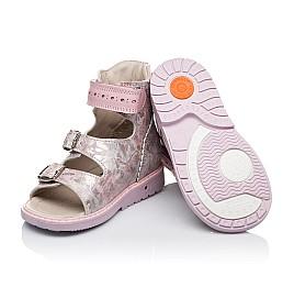 Детские ортопедические босоножки (с высоким берцем) Woopy Orthopedic розовые для девочек натуральная кожа размер 21-21 (3368) Фото 2