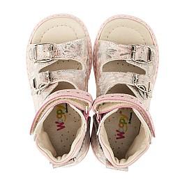 Детские ортопедические босоножки (с высоким берцем) Woopy Orthopedic розовые для девочек натуральная кожа размер 21-21 (3368) Фото 5