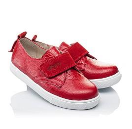 Детские слипоны Woopy Orthopedic красные для девочек натуральная кожа размер 25-26 (3373) Фото 1