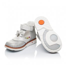 Детские туфлі ортопедичні Woopy Orthopedic серебряные для девочек современный искусственный материал размер - (3374) Фото 2