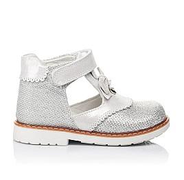 Детские туфлі ортопедичні Woopy Orthopedic серебряные для девочек современный искусственный материал размер - (3374) Фото 4