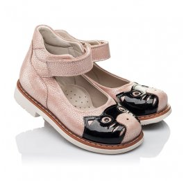 Детские туфли ортопедические Woopy Orthopedic розовые для девочек натуральная кожа размер 21-21 (3377) Фото 1