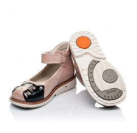 Детские туфли ортопедические Woopy Orthopedic розовые для девочек натуральная кожа размер 21-21 (3377) Фото 2