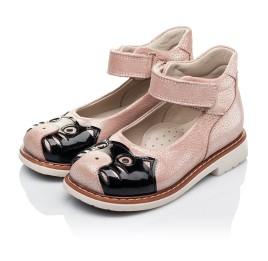 Детские туфли ортопедические Woopy Orthopedic розовые для девочек натуральная кожа размер 21-21 (3377) Фото 3