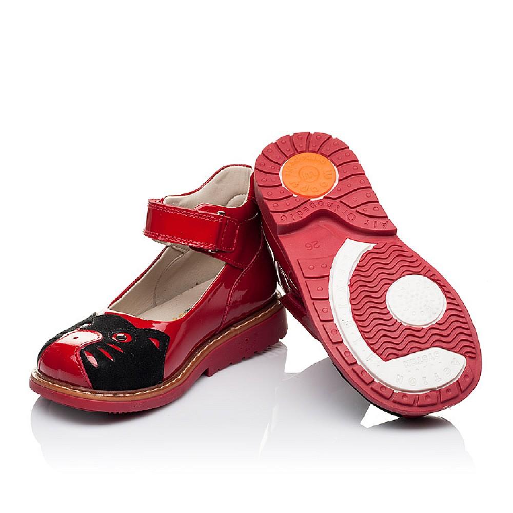 Детские туфли ортопедические Woopy Orthopedic красные для девочек натуральная лаковая кожа размер 21-30 (3378) Фото 2