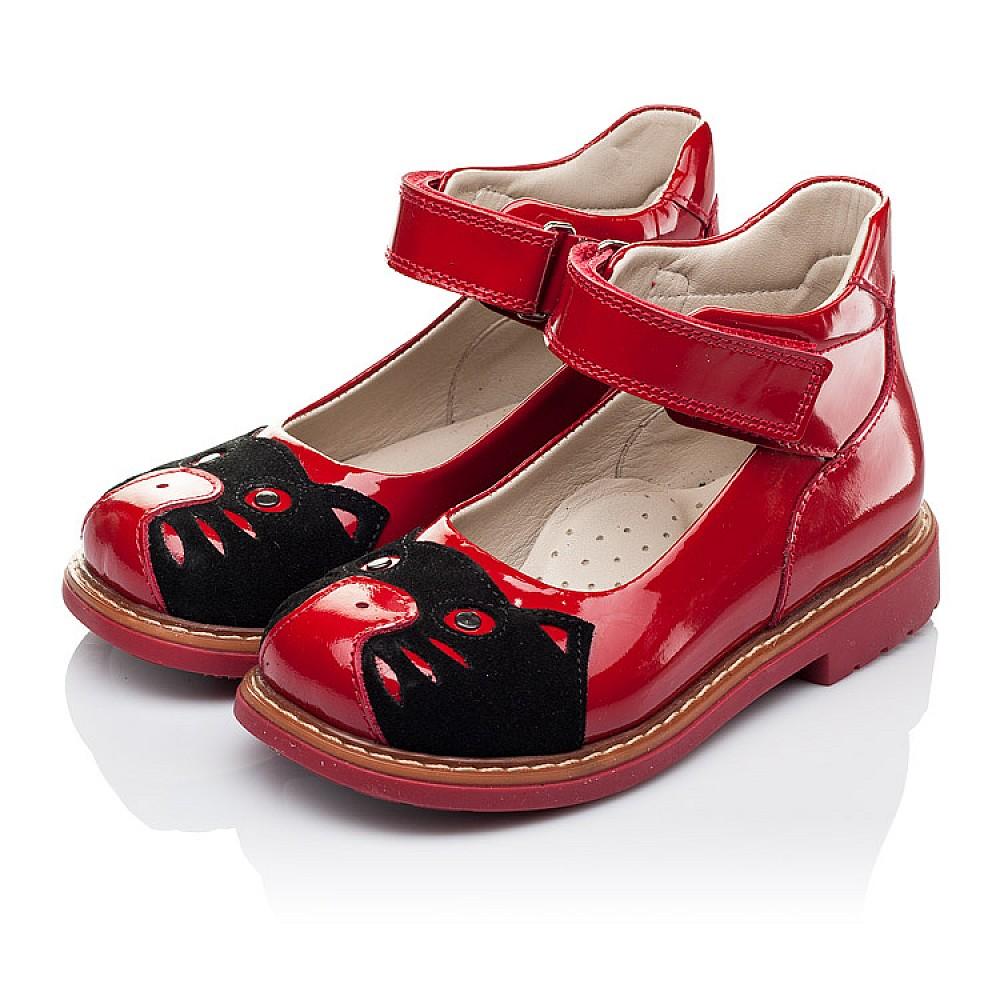 Детские туфли ортопедические Woopy Orthopedic красные для девочек натуральная лаковая кожа размер 21-30 (3378) Фото 3