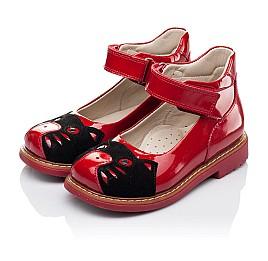 Детские туфли ортопедические Woopy Orthopedic красные для девочек натуральная лаковая кожа размер 21-21 (3378) Фото 3